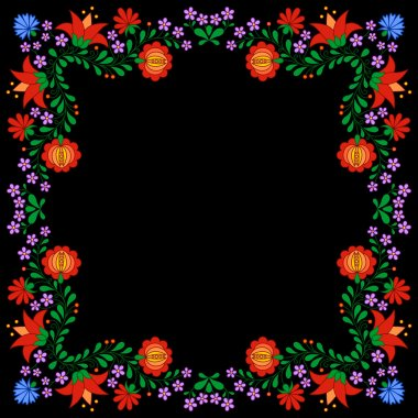 Traditional Hungarian folk embroidery pattern
