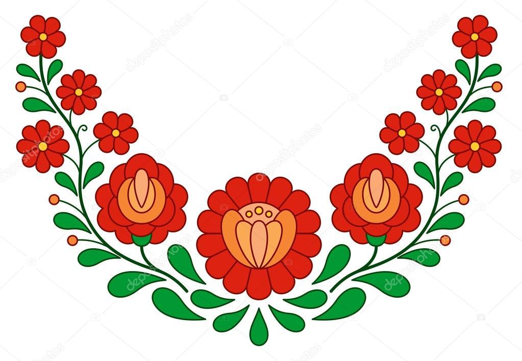 Patrón del bordado popular húngaro tradicional — Archivo Imágenes ...