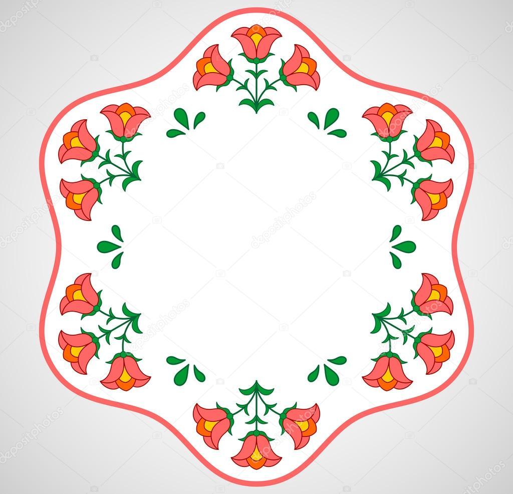 Bastidor de bordado Húngaro con decoración floral — Archivo Imágenes ...