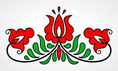 Traditional Hungarian floral motif