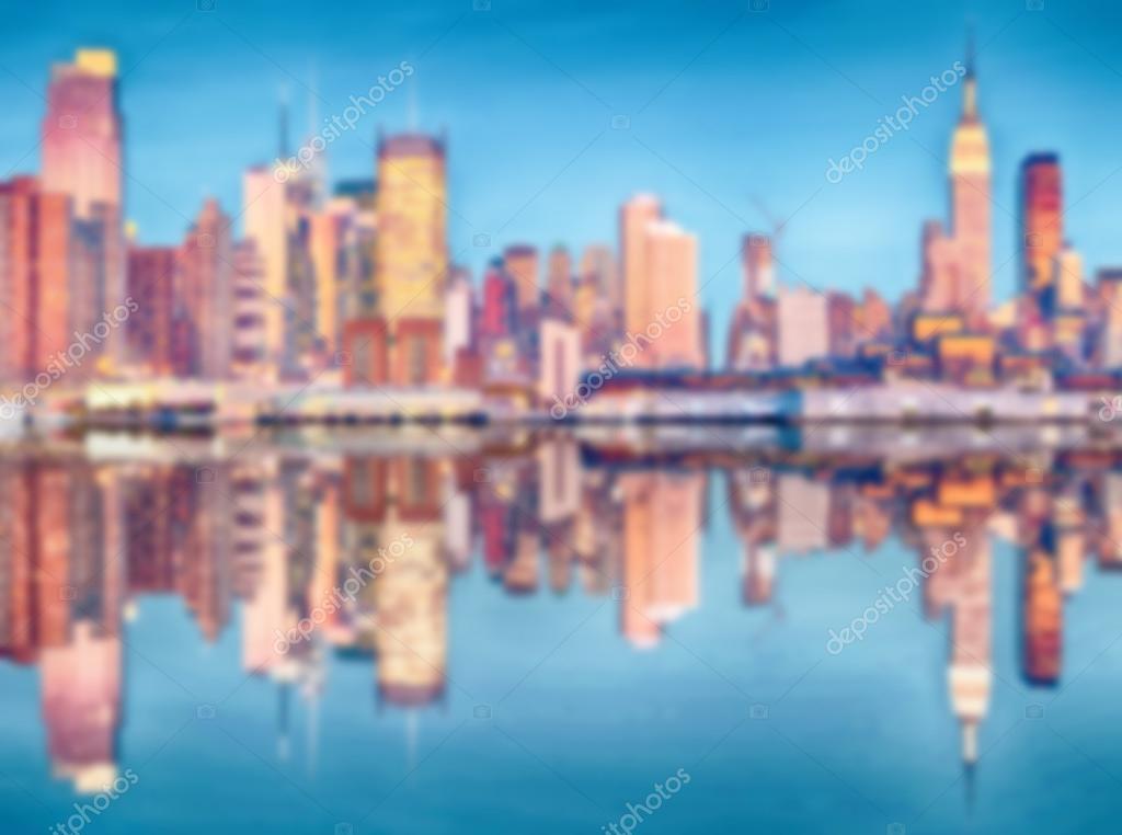 Verschwommenes Hintergrundbild aus New York City — Stockfoto © UTBP ...