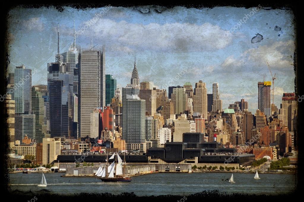 9d34825c205 New york şehrinin eski büyük yelkenli gemi hudson içinde — Stok Foto ...