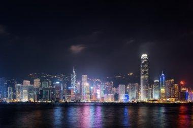 Night view of Hong Kong Island skyline