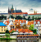 Lesser Town and Castle District (Hradcany) in Prague