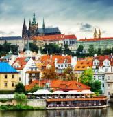 Geringerer Stadt und Burgviertel (Hradcany) in Prag