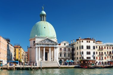 The San Simeone Piccolo in Venice (Italy) on blue sky background