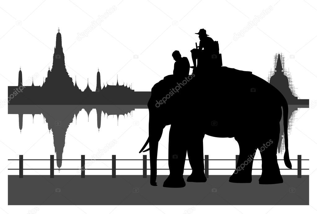 Tourists on an elephant