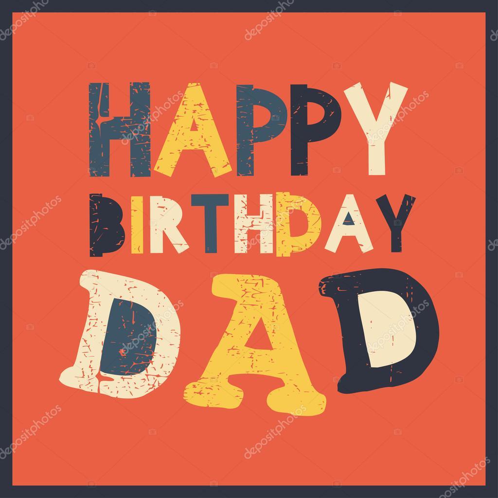 Alles Gute Zum Geburtstag Papa Vektor Illustration Stockvektor