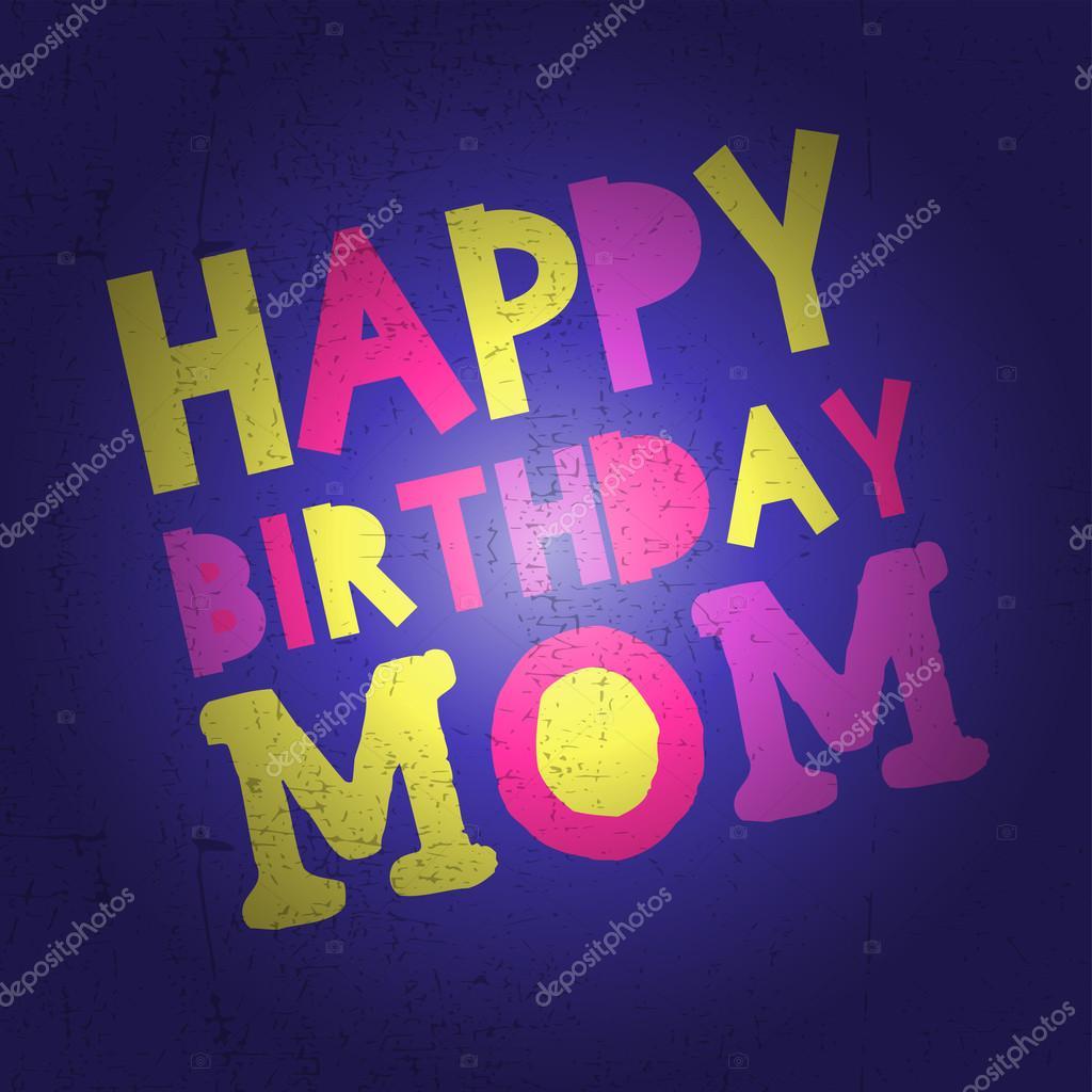 Joyeux Anniversaire Maman Illustration Vectorielle Image