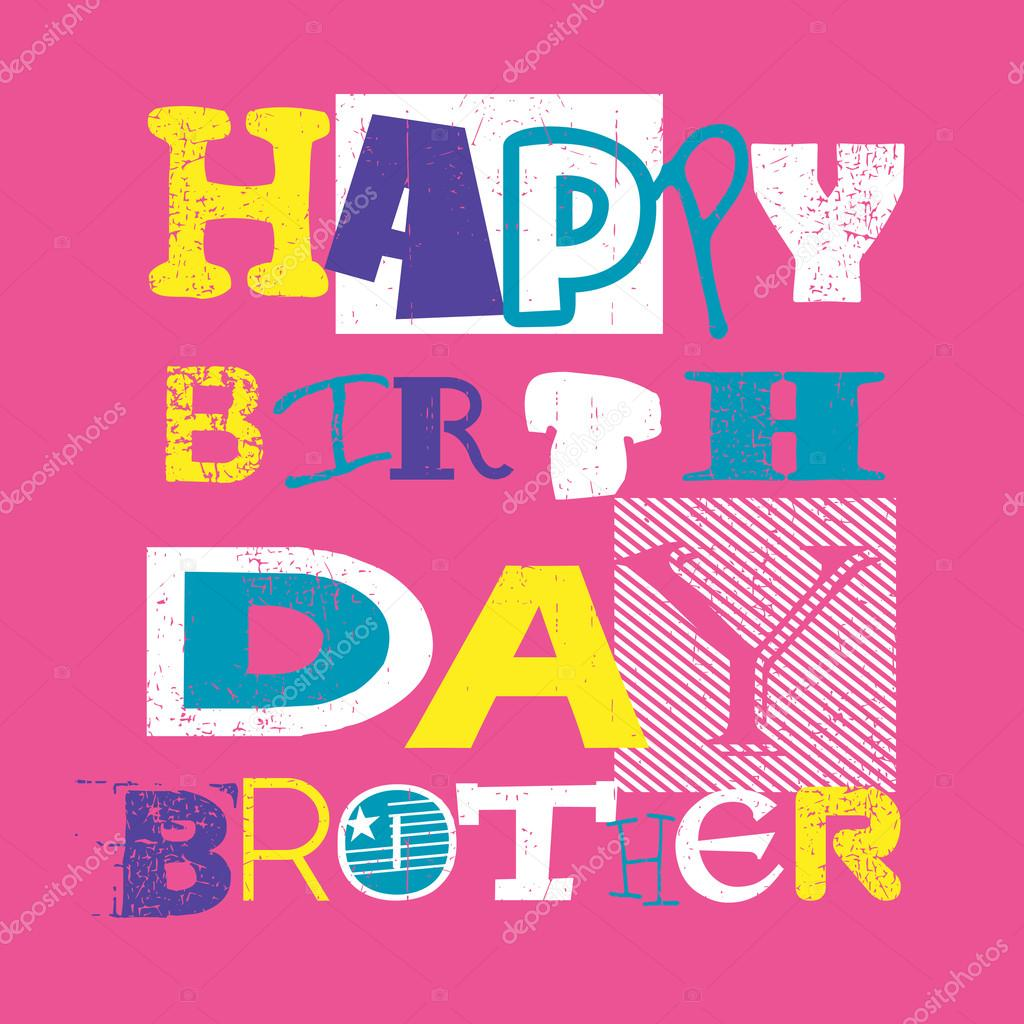 happy birthday brother card stock vector