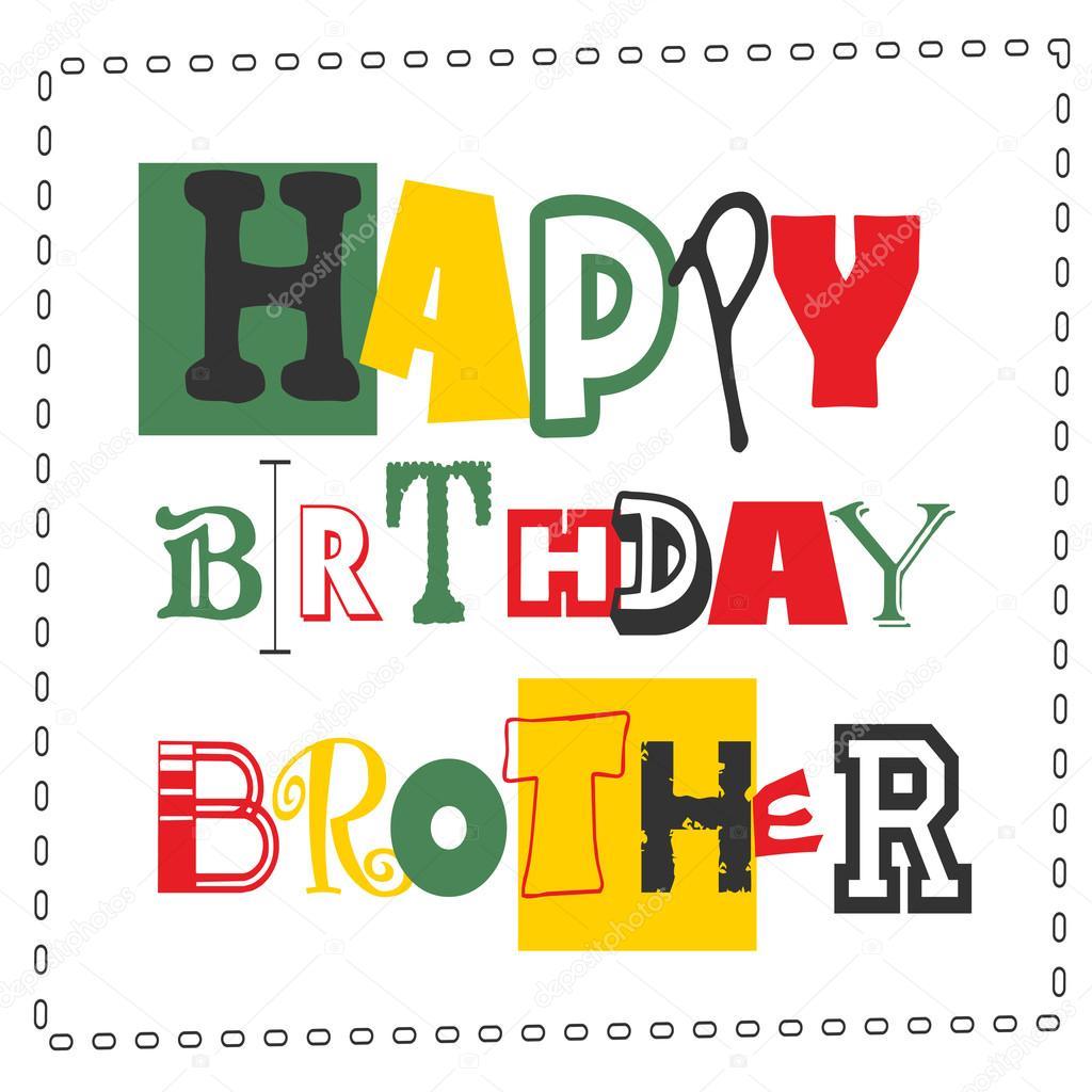 Cartolina Di Buon Compleanno Fratello Vettoriali Stock