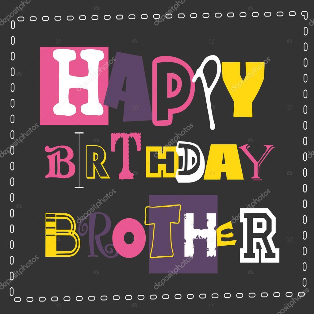Alles Gute Zum Geburtstag Bruder Karte Stockvektor C Aleabievsasha