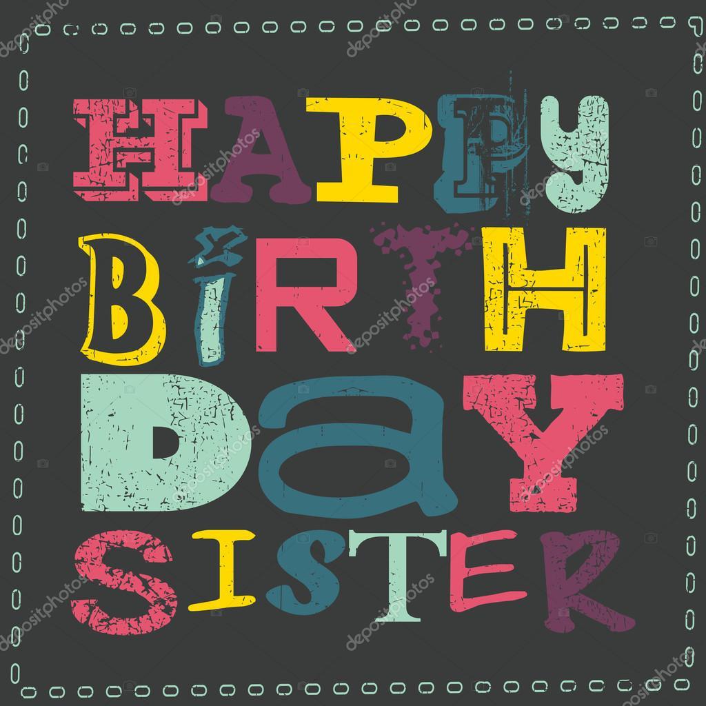 Postales De Feliz Cumpleanos Hermana.Foto Tarjetas De Cumpleanos Para Una Hermana Feliz