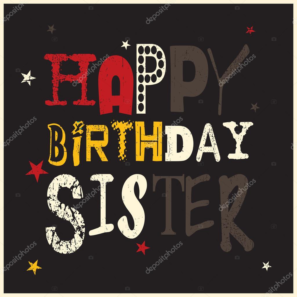Bekend Gelukkige verjaardag zus kaart — Stockvector © aleabievsasha  GC11