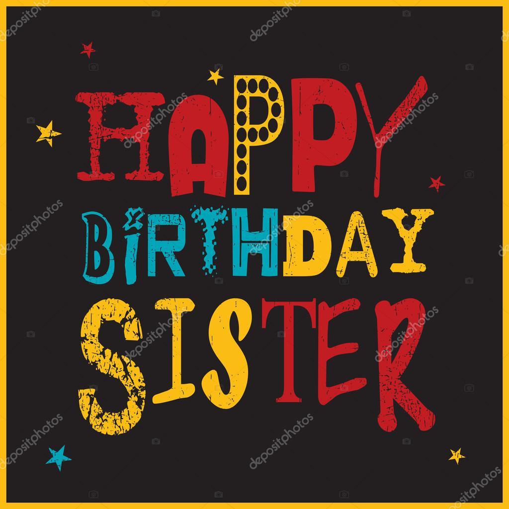 grattis syster Grattis syster kort — Stock Vektor © aleabievsasha #110616238 grattis syster