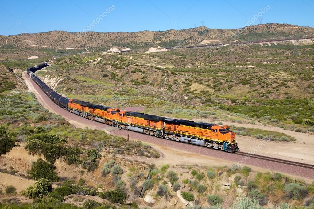 Trains are diesel oil transportation