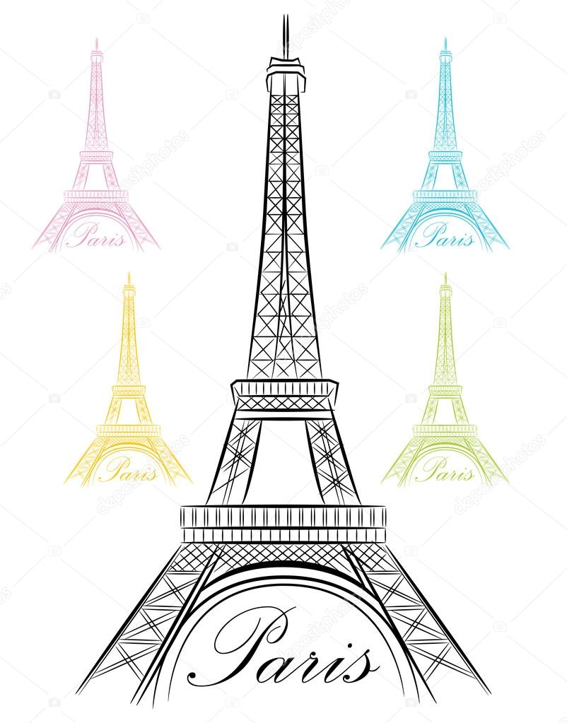 Fancy Paris Eiffel Tower Icon U2014 Stock Vector U00a9 Cteconsulting #100838452