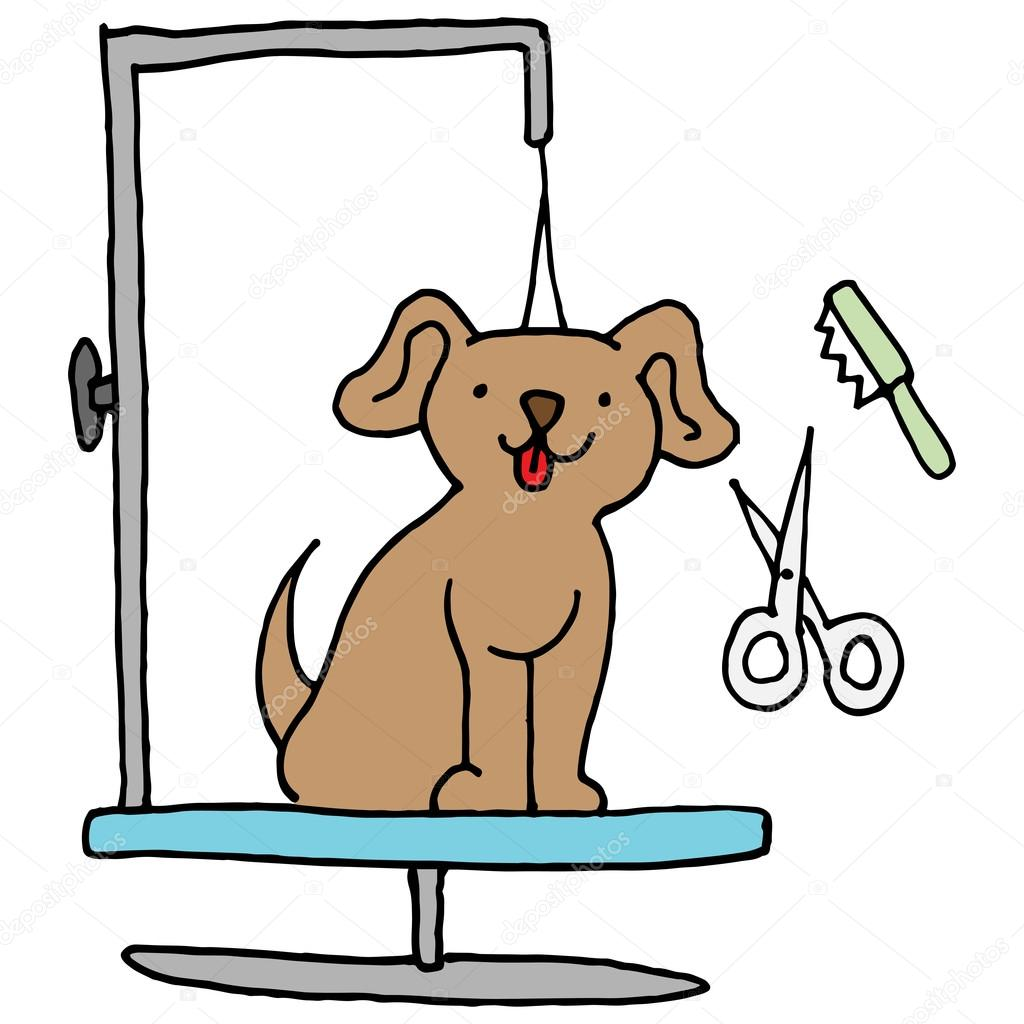 dog grooming table stock vector cteconsulting 106870724 rh depositphotos com dog grooming clipart dog grooming clip art free