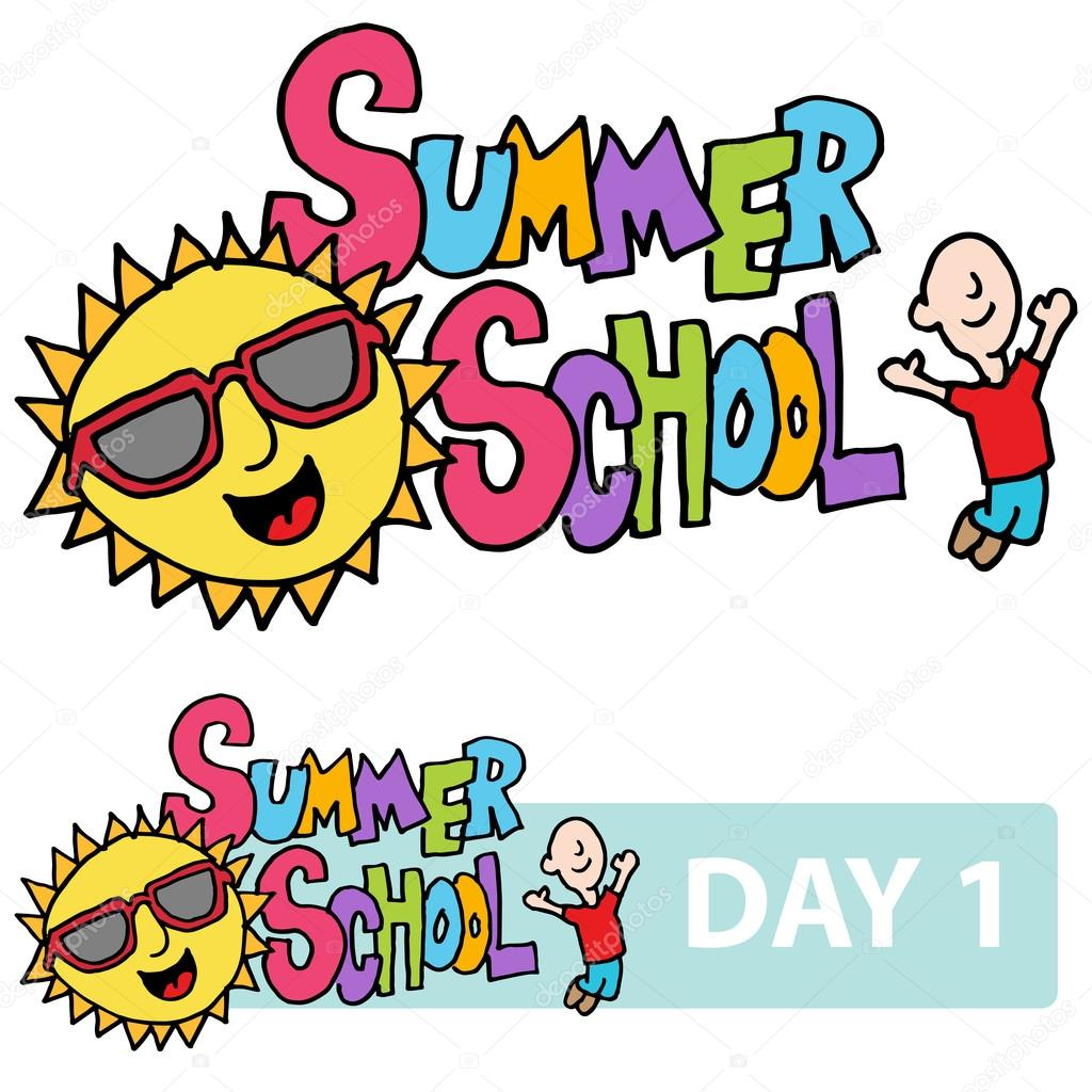 summer school son and student message stock vector cteconsulting rh depositphotos com  summer school clip art in black and white