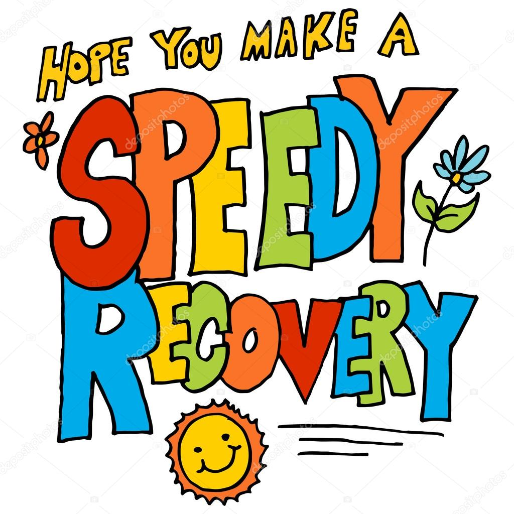 an image of a hope you make a speedy recovery message vector by cteconsulting