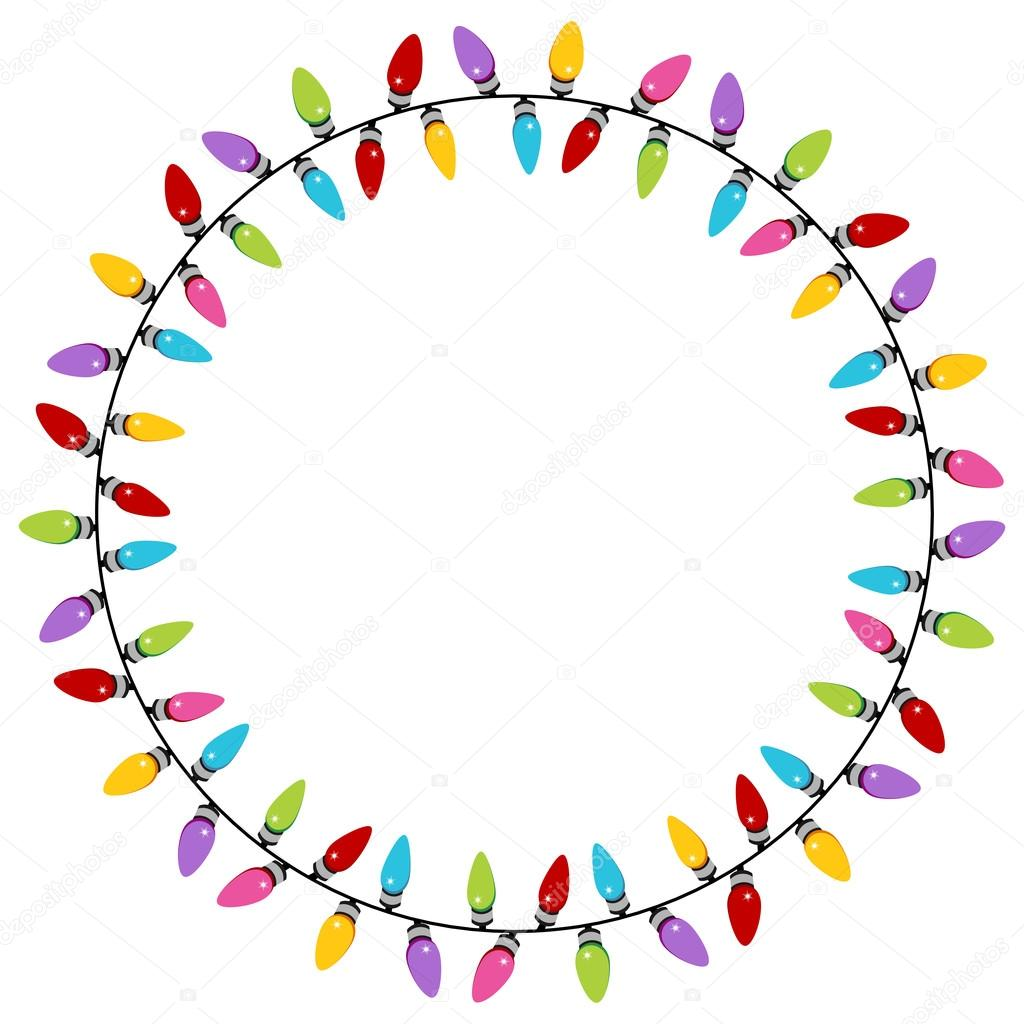 Christmas Lights Circle Pattern