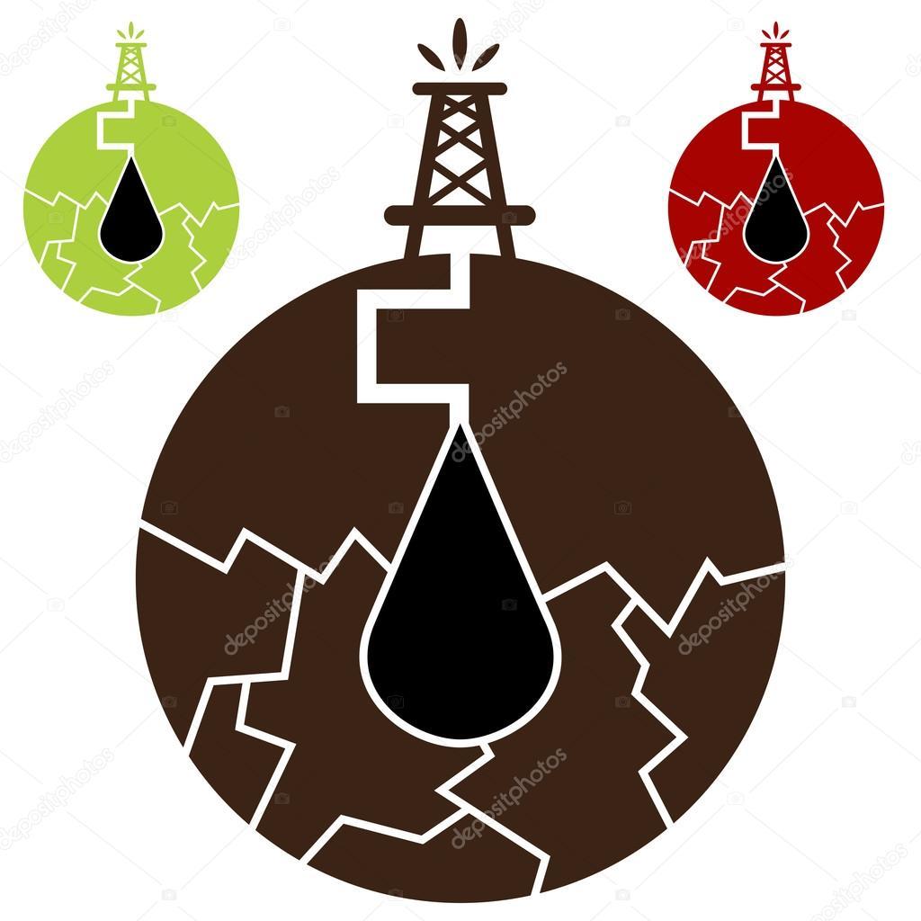 Fracking Oil Icon