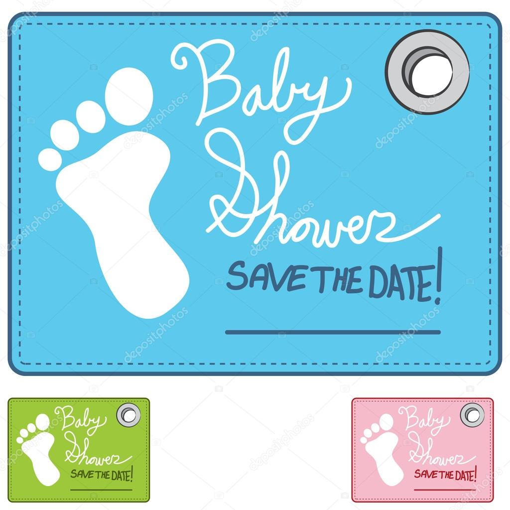 Baby Shower Reminder Card Stock Vector Cteconsulting 61586353