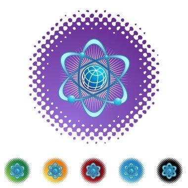 Atom icon button