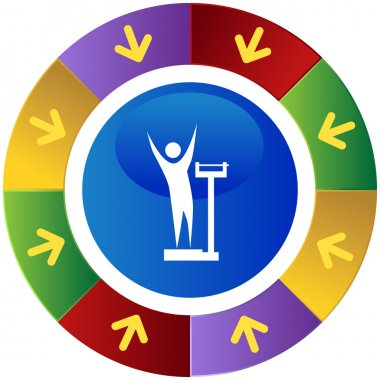 Weight Loss web icon clip art vector
