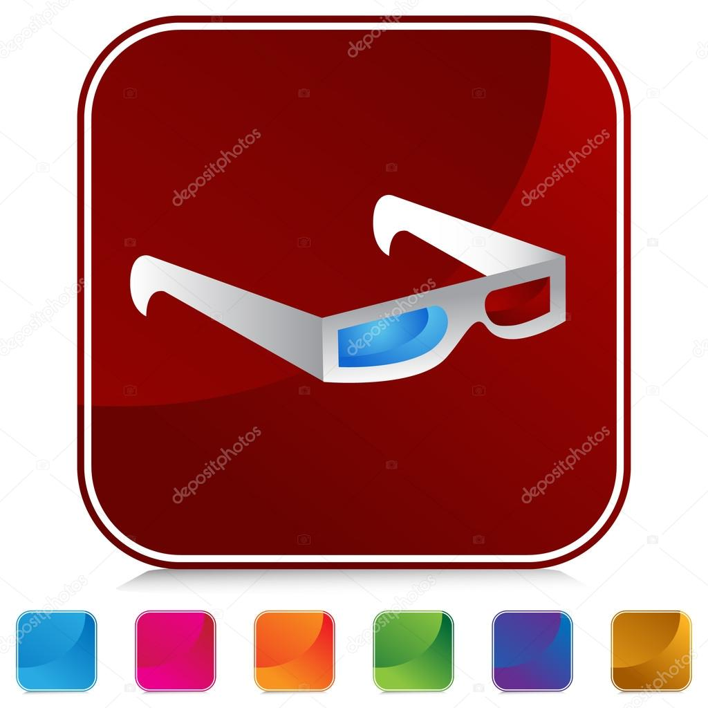3D Glasses Button Set — Stock Vector © cteconsulting #64140871