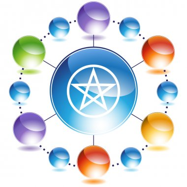 Pentagram button icon