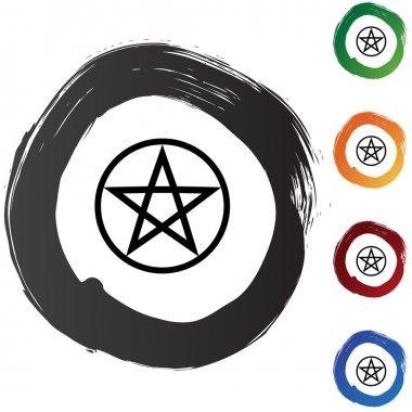 Pentagram button icon