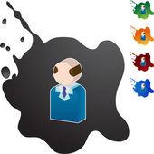 Ikona webové senior obchodník