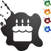 Narozeninový dort web tlačítko