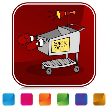 Shopping Cart Battle Button Set
