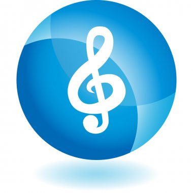 Music Note web button