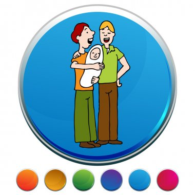 Gay Adoption Button Set