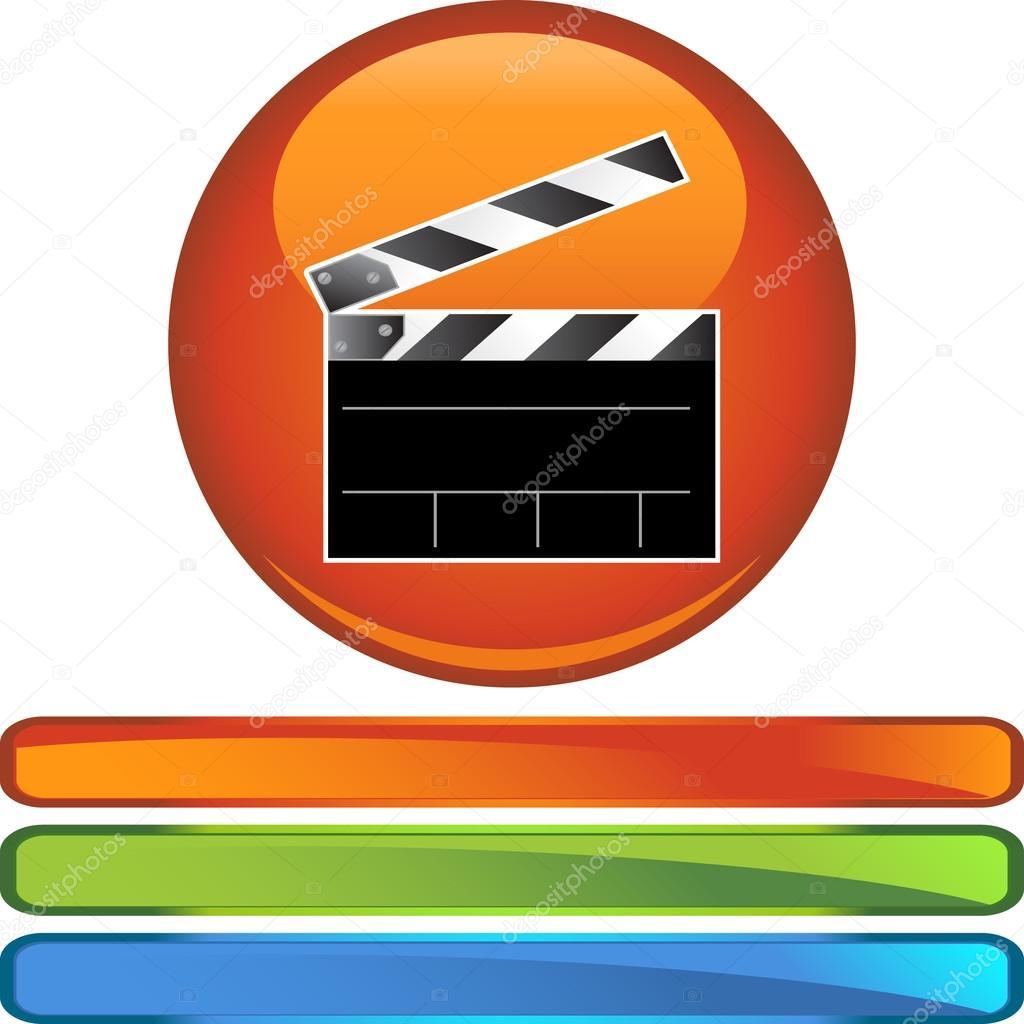 Film-Schindeln-Web-Taste — Stockvektor © cteconsulting #64194887