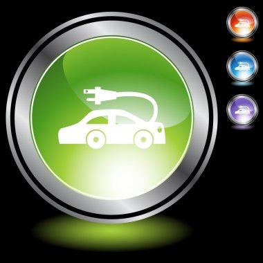 Electric Car icon button