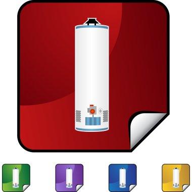 Water Heater web icon clip art vector