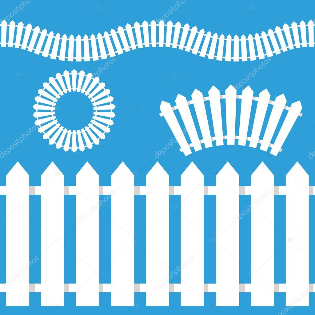 White Picket Fence Icon Set — Stock Vector © cteconsulting ...