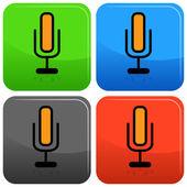 Tlačítko ikonu mikrofonu