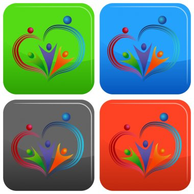 Loving People Icon Button