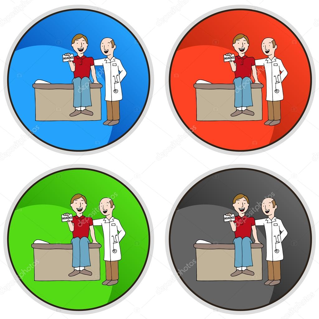 an image of health insurance card button vector by cteconsulting