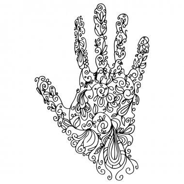 Zentangle Hand Outline