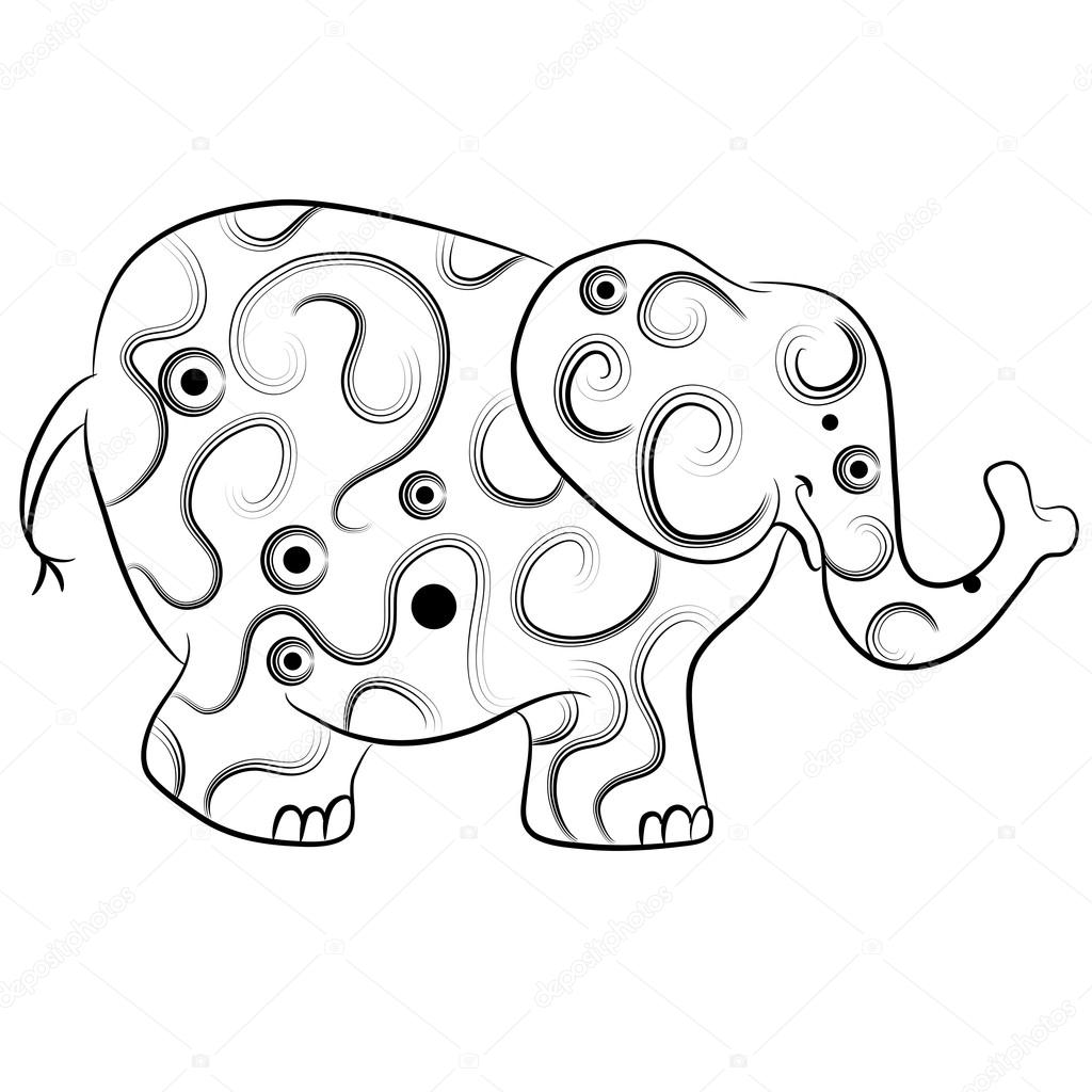 Clipart: elephant outline   Simple Elephant Outline ...