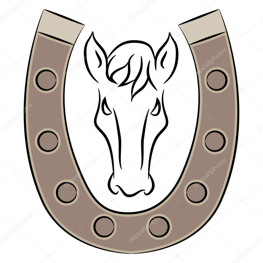 ferradura com cavalo ícone vetor de stock cteconsulting 78641784