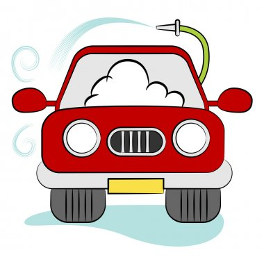 Car Being Washed Cartoon