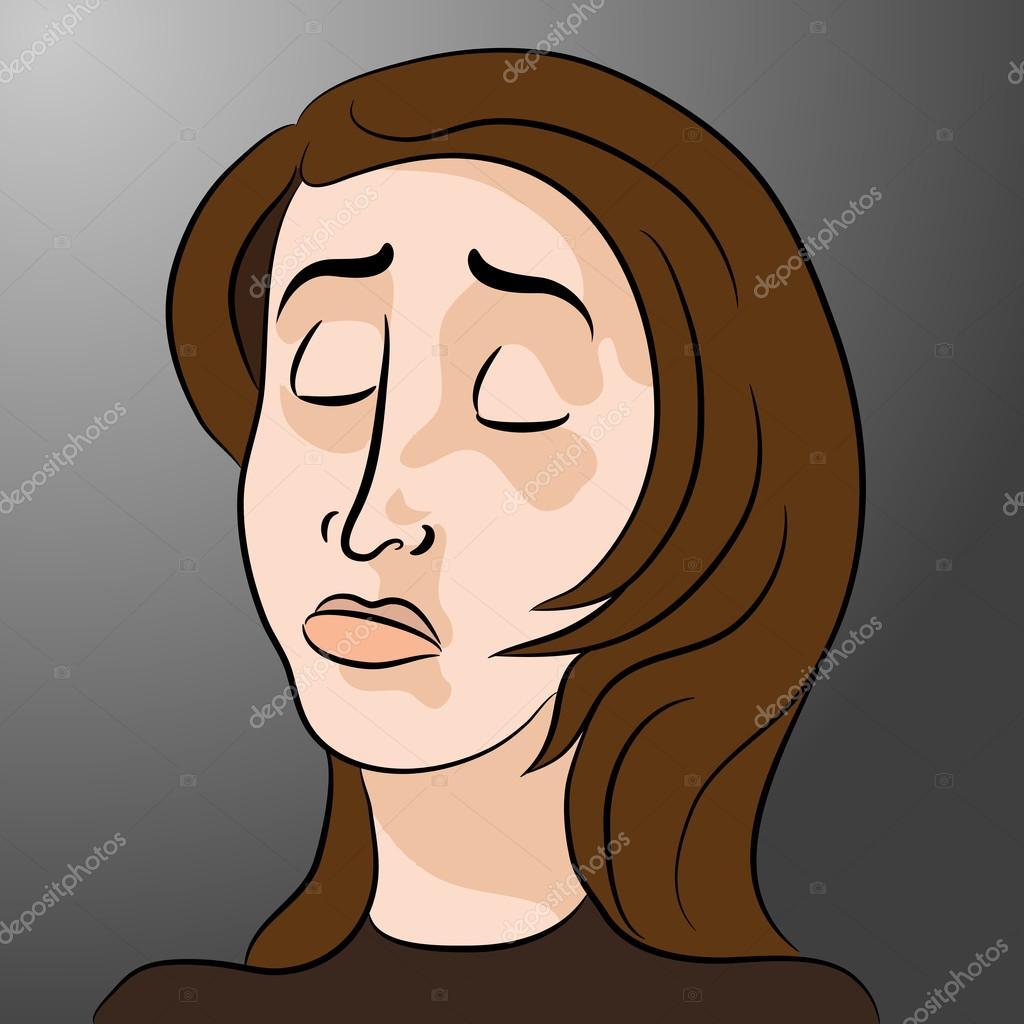 Dessin Anime Triste Femme Deprimee Image Vectorielle Cteconsulting