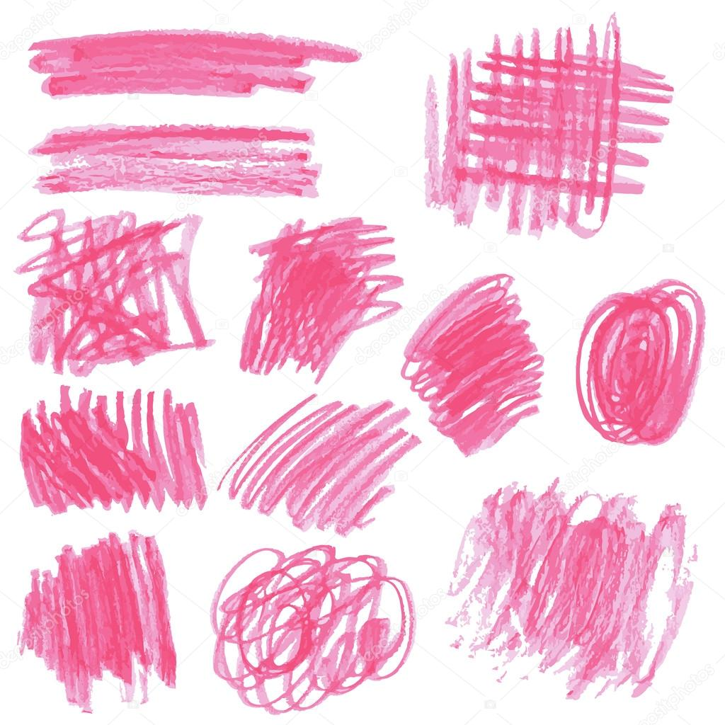 Pink pencil drawing sketches